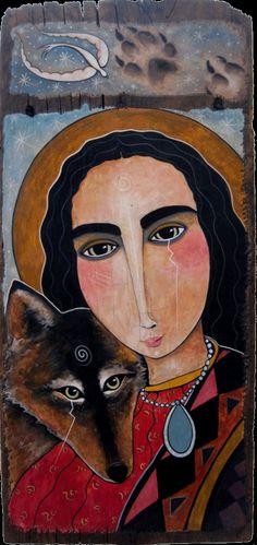 Wolf Speaks to Mary by Virginia Maria Romero