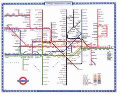 The London underground, aka Dumbledore's knee. London Tube Map, London Now, Old London, Underground Tube, London Underground, Edward Tufte, Metropolitan Line, Subway Map, London Calling
