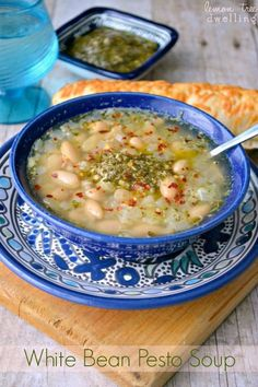 This White Bean Pesto Soup is made with just 7 simple ingredients and ready in less than 20 minutes! A quick, easy, and delicious dinner recipe! I have something to admit....embarrassing as it may be. I HATE driving in snow. And when I say HATE....I mean I avoid it at all costs! I would rather cancel plans - no matter how exciting the plans may be - than risk having to get behind the wheel when the roads are slippery (or even when they're not!) I'm a wimp!! And I guess if I had grown ...