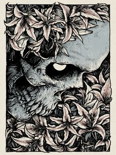 """Warpaint Press keeps their art print series rolling with this new one by Godmachine. """"Laid To Rest"""" is an 18"""" x 24"""" screenprint, has an edition of 100, and will."""
