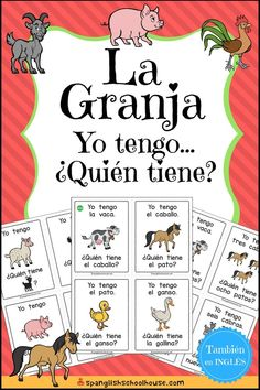 "La Granja ""Yo tengo, Quién tiene? (""I have, Who has?"" Farm in Spanish) is the perfect game for beginning Spanish students. Three game variations are included for practicing numbers, colors, and farm vocabulary!"