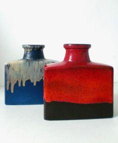 60s 70s Scheurich Europ Linie Keramik Vase ceramic west german fat lava pottery