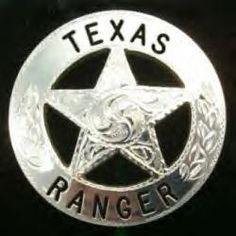Texas Ranger's star, seen only in Texas.