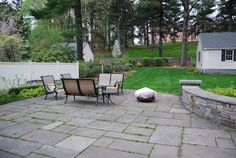 pavers with grass!