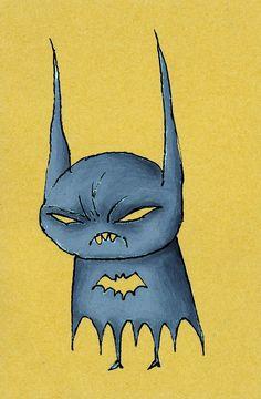 """Little Batman"" by ~pezbananadesign"
