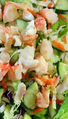 Lobster Salad With Lemon Dressing Follow or Friend me I'm always posting awesome stuff:http://www.facebook.com/tennie.keirn  Join Our Group for great recipes and diy's:www.facebook.com/groups/naturalweightloss1
