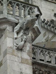 Regensburg - Fabelwesen als Wasserspeier am Dom