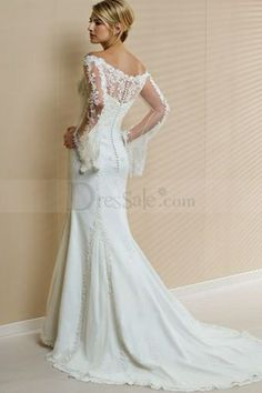 Top Informal Sheath Wedding Gown With Exquisite Jacquard Embellishment Love The Off Shoulders Look