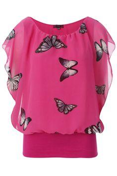 Chiffon Butterfly Top