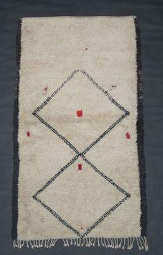 Vintage Beni Ouarain rug. www.larusi.com