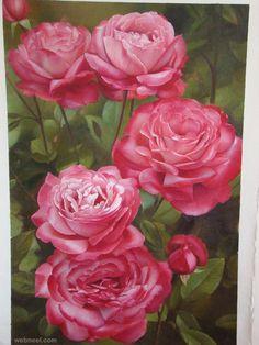 flower painting rose