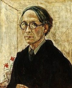Self portrait of the Belgian artist Rodolphe Strebelle (1880-1959) - Royal Museum of Fine Arts Antwerp (Belgium) - Style:Post-Impressionism 1938