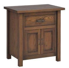 Amish Mountain Lodge Night Stand with Doors Set up solid wood storage that will last for generations. Amish made in choice of wood. The Mountain Lodge provides room for bedside essentials and brings solid wood style and balance to master bedroom or guest suite. #nightstand #bedroom