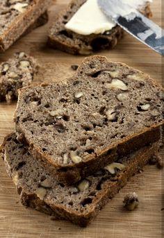 Provereni recepti. Cooks and Bakes: Beskvasni ražano-pšenični integralni hleb sa orasima
