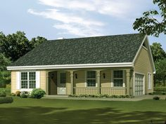 The Silverpine Cottage Home has 3 bedrooms and 2 full baths. See amenities for Plan 007D-0176.