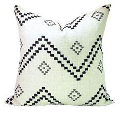 Peter Dunham Textiles Taj pillow cover in Onyx/Ash by sparkmodern