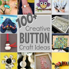 Grab your button jar because this mega list of creatively cool Button Projects will keep you inspired to use up every last one! The Sewing Loft Easy Projects, Craft Projects, Sewing Projects, Craft Ideas, Sewing Hacks, Sewing Crafts, Sewing Tips, Fun Crafts, Crafts For Kids