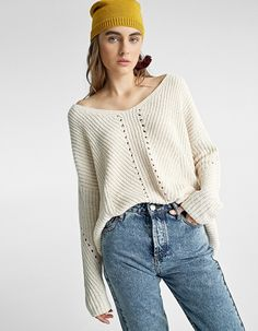 At Stradivarius you'll find 1 Chenille sweater with openwork for just 3834 Japan . Visit now to discover this and more Knitwear.