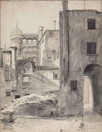 Thomas Wijck View of Palazzo Contarini del Bonvolo, Venice before 1677 drawing Morgan Library, New York Palazzo, Morgan Library, Venice, Environment, Museum, Watercolor, Drawings, Building, Artist