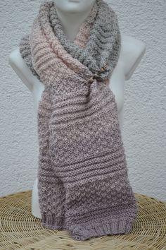 Damen Winter Warm Strick Wolle Schal mit langen Ärmeln weichen Wrap Geschenk
