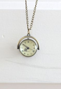Rotatable Antique Brass Pocket Watch Steampunk Style by Wrhs11, €17.50