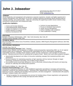 commercial property manager resume templates - Property Manager Resume Samples