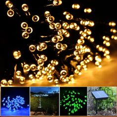 Lycheers colour Solar Christmas String 55ft 17m 100 LED Solar Fairy String Lights for Outdoor, Gardens, Homes, Christmas Party, Waterproof (Warm White)