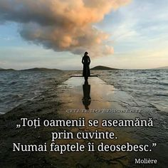Faptele fac diferența - Monica Lungu - Google+ Qoutes, Life Quotes, Motivational Words, True Words, Wallpaper Quotes, Faith, Thoughts, Love, Beach