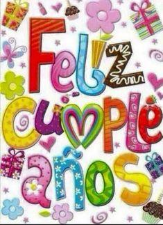 Happy Birthday Wishes For Her, Happy Birthday In Spanish, Birthday Quotes For Her, Happy Birthday Cake Images, Happy Birthday Celebration, Happy Birthday Wishes Cards, Bday Cards, Jolie Photo, Birthdays