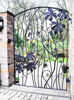 steel gate decorations - Google Search