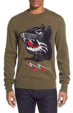 DIESEL® 'Baddog' Wool Blend Crewneck Sweater