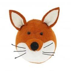 Fox Felt Animal Head Wall Mounted