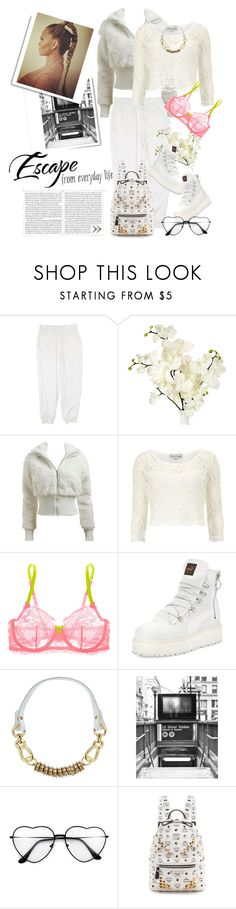 """got my all white on feeling godly"" by immyowndoll ❤ liked on Polyvore featuring DKNY, Arden B., Dorothy Perkins, Mimi Holliday by Damaris, Puma, Moxham, WALL and MCM"