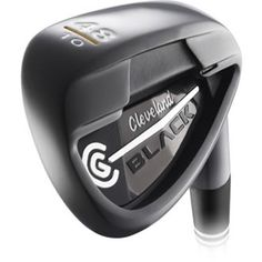 Cleveland CG Black Wedge. It is ultra sleek in looks with a black finish and is designed to offer greater forgiveness and amazing distance, available now from Aslan Golf Wilson Golf Clubs, Golf Wedges, Cleveland Golf, Golf Putters, Golf Shop, Golf Irons, Black Wedges, Golf Ball, Forgiveness