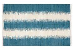 Uma Flat-Weave Rug, Teal/Ivory on OneKingsLane.com