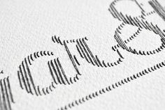 stitched typography by Peter Crawley