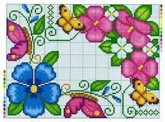 Butterfly Cross Stitch, Cross Stitch Borders, Cross Stitch Art, Cross Stitch Flowers, Cross Stitch Designs, Cross Stitching, Cross Stitch Embroidery, Cross Stitch Patterns, Tapestry Crochet