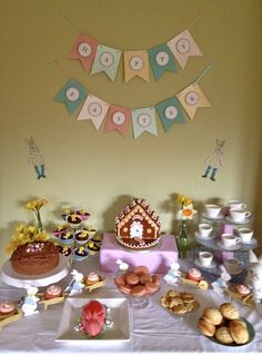 My Charity Easter Tea Party dessert table