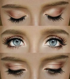 Brown and gold smokey eye <3