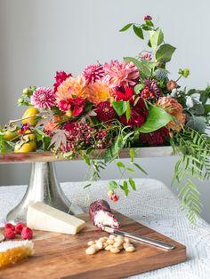 centros de flores de otoño