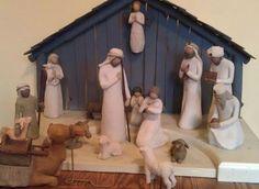 My nativity - creche handmade by my husband, figurines by Willow Tree Nativity Creche, Willow Tree, Clean House, Husband, Cleaning, Holidays, Decorating, Christmas, Handmade