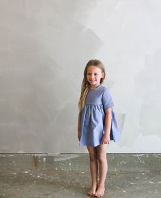 {007} Oxford handmade children's dress.  Perfect kids  dress for summer fashion.
