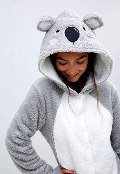 Buy ASOS DESIGN lounge koala hooded onesie with ears at ASOS. With free delivery and return options (Ts&Cs apply), online shopping has never been so easy. Cute Sleepwear, Lingerie Sleepwear, Sleepwear Women, Nightwear, Cute Pijamas, Cute Onesies, Cute Lazy Outfits, Onesie Pajamas, Pop Fashion