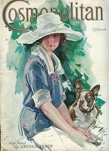 Illustration by Harrison Fisher, Cosmopolitan magazine cover art, July 1922