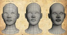 Low-High poly head example