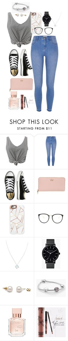 """Casual day, everyday"" by cid-paradero on Polyvore featuring WithChic, River Island, Converse, Kate Spade, Casetify, Linda Farrow, Wolf & Moon, The Horse, Pandora and Maison Francis Kurkdjian"
