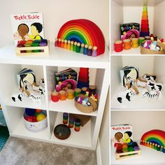 Shelfie - for 19 month old. Toddler play ideas. Early years. Invitation to play. Grimms. Grapat. Lanka Kade. Stories. Rocks.