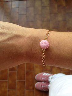 Baby Pink Macaroon Bracelet with Swarovski Charm _ Miniature Food _ Polymer Clay _ Food Jewelry _ Foodie Gift _ Macaroon Collection by MarisAlley on Etsy Swarovski Butterfly, Pink Macaroons, Clay Food, Rose Gold Color, Miniature Food, Polymer Clay, Miniatures, Stud Earrings, Paris