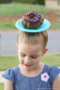 """wacky-hair-donut-hair-325 CLEVER IDEAS for """"Wacky Hair Day"""" at SCHOOL!!   via www.makeit-loveit.com"""