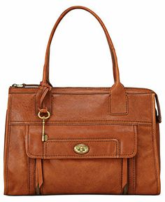 Sandi - Fossil Handbag, Stanton Leather Satchel - Fossil - Handbags & Accessories - Macys